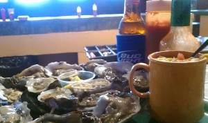 Oysters and Clam Chowder at Calico Jack's